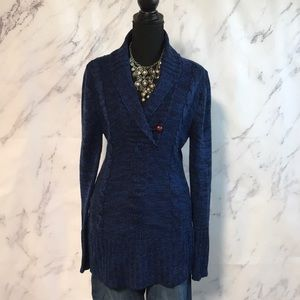 Blue and Black Long Sweater